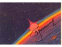 # sprnt703 Space Dawn artwork card signed by Leonov