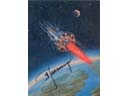 # sprnt708 Spaceship Over The Planet A.Leonov signed artwork card